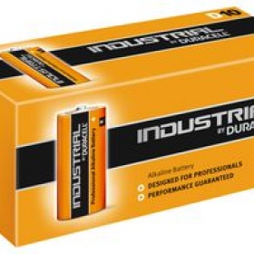 Duracell Industrial D Size, 1.5V Proffessional Alkaline Batteries, Box of 10