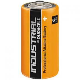 Duracell Industrial C Size, 1.5V Proffessional Alkaline Batteries, Box of 10