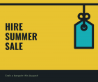 Hire Summer Sale