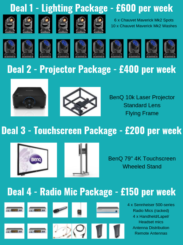 August Hire Packages